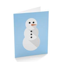 Custom Fancy Christmas Holiday Greeting Paper Card Printing