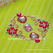 Spiegel Aufkleber benutzerdefinierte Aufkleber Acryl Aufkleber Schmuck Sammelalbum Sticker Glitzer Wandaufkleber