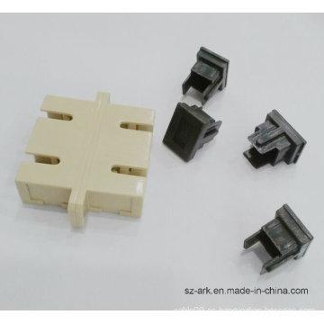 Adaptador de fibra óptica dúplex con varios modos de funcionamiento SC / PC con el reborde