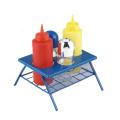 Conjunto de condimentos para mesa de piquenique para churrasco de plástico 6 unidades