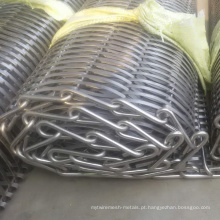 Correia transportadora / correia transportadora de aço inoxidável
