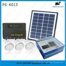 Sistema de iluminación Solar de casa de venta caliente con USB cargador de teléfono para Zona Rural