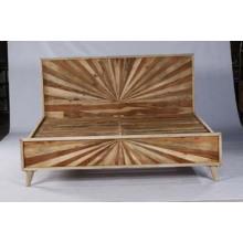 Cama de alta calidad de diseño de muebles de madera Cama doble