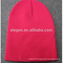 Plain Color Acrylic Knitted Winter Hat