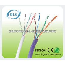Buena calidad utp cat5e cable de red con la certificación ROHS