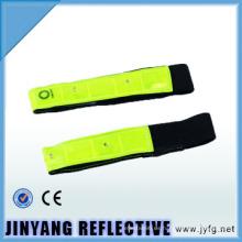 colorido reflexivo de la seguridad del led brazalete de velcro