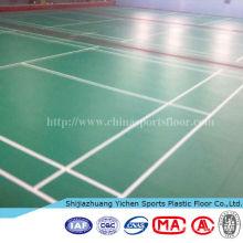 revêtement de sol antidérapant en vinyle pour terrain de badminton