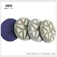 3 inch dry resin polishing pad for concrete grinding machine