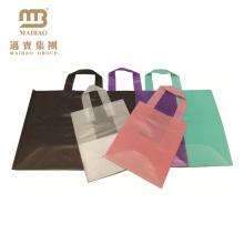 100% Eco-Friendly Biodegradable Custom Design Hdpe/Ldpe Shopping Carrying Flexi Soft Loop Plastic Handle Bag