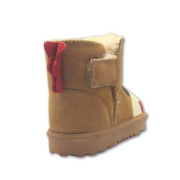 Short Brown Suede Boots For Girls Toddlers