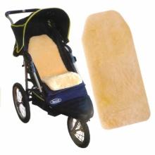 Doublure de poussette personnalisée pour bébé en peau de mouton