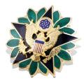 Suministra el Pin de encargo barato, insignia de la policía del metal (GZHY-BADGE-003)