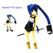 Schöne Mädchen PVC Injection Figur Spielzeug (ZB-019)