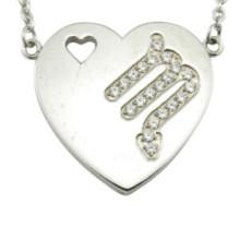 Acier inoxydable coeur pendentif Zodiac Collier Designs