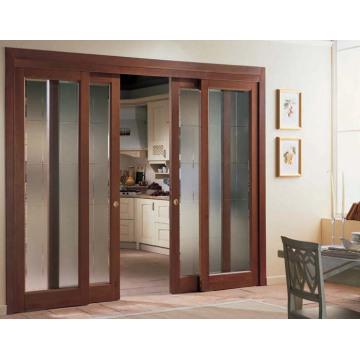 Limpia puerta corredera de madera de vidrio