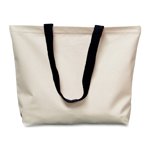 Canvas tote bag with pockets
