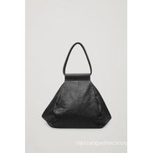Soft Folded Leather Bag Shopper