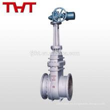Tipo eléctrico diferente de válvula de compuerta de acero forjado de asiento elástico con brida