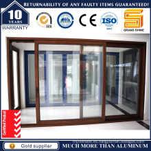 Puertas correderas de aluminio de doble acristalamiento (SL-7790)