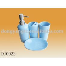 4 peças de banho em cerâmica com design impresso