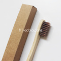 Fabricant professionnel de brosses à dents en bambou, brosse à dents naturelle pure