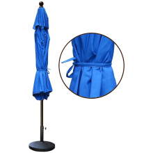 Синие коммерческие уличные зонтики