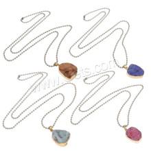 2015 Gets.com Druzy Anhänger Großhandel Amethyst Natürliche Druzy Halskette mit Ball Kette