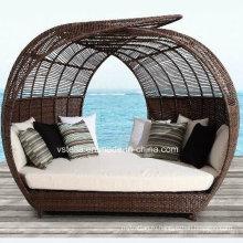 Открытый патио сад Ротанг Плетеный Sun Lounger
