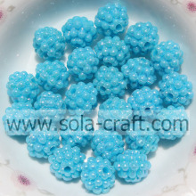 Berry Beads in plastica color turchese per bracciale fai da te