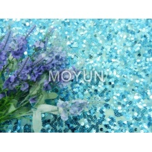 """POLY MESH WITH 5MM +7MM SEQUIN EMBROIDERY 50 52"""""""