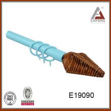 E19090 punta de la tablilla punta de la cortina barra, barra de la cortina del metal, barra de la cortina decorativa