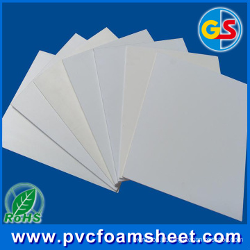 Folha de espuma de PVC sem chumbo certificação ROHS para uso de gabinete & mobiliário (espessura Popular: 18 mm)