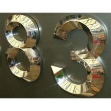 3D Polished Mirror Finished Titanium Letter