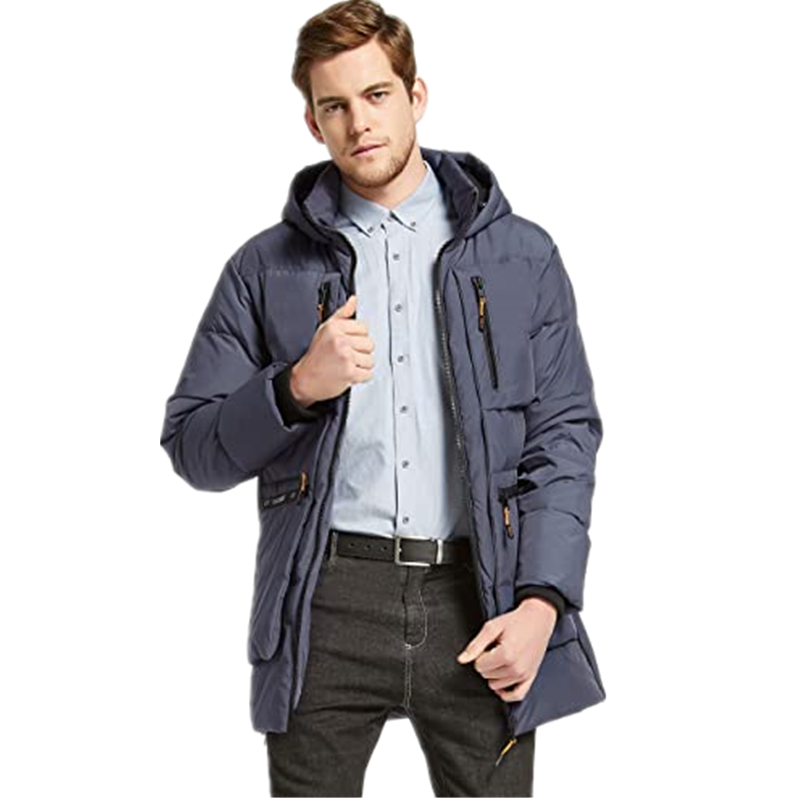 Men S Thickened Down Jacket Classical Winter Hooded Coats With Multiple Pockets6