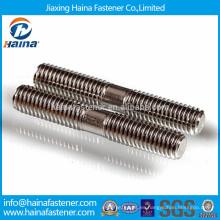 Tornillo de doble extremo de acero inoxidable de longitud igual