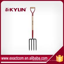 "Garden Spading 4 Teeth Fork Forged , heavy-duty, 10.3/4""X7"" head, 30"" ash D-handle"
