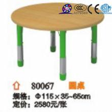 2016 Mesa redonda de madera ajustable para niños