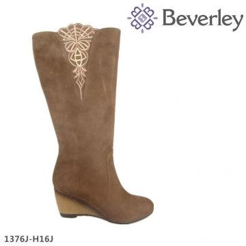большой размер коричневый воловьей кожи женщин длинные сапоги элегантная дама высокий каблук сапоги
