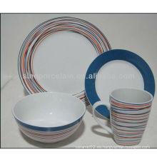 Cena redonda de la porcelana 16pcs agradable set BS130304A