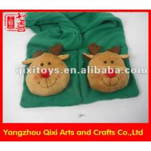 Forme el mantón animal de la felpa alces guantes guantes bufanda bufanda de invierno