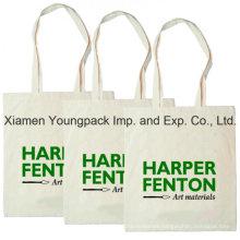 Promotional 100% Natural Cotton Calico Canvas Shoulder Bag