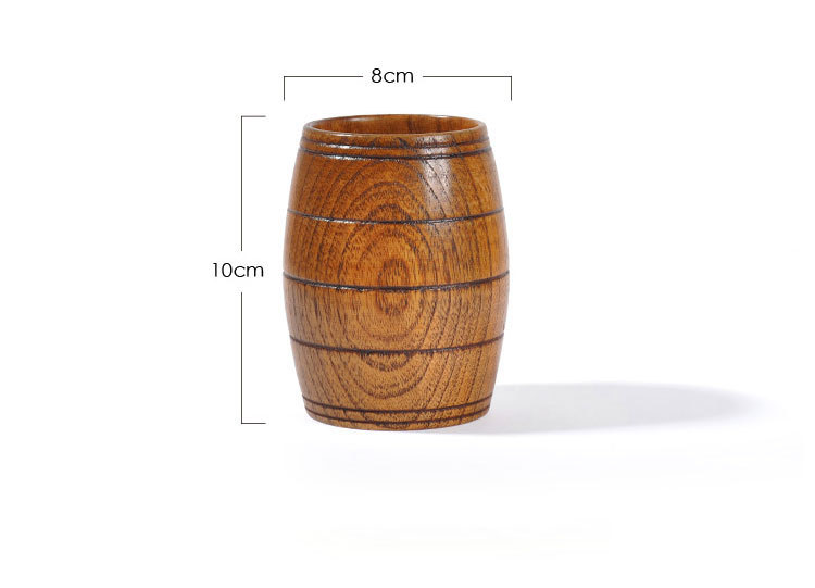 oak barrel beer mug
