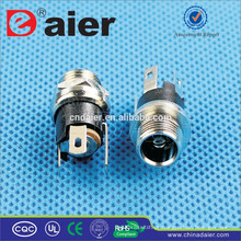 Daier Metal Preto 2.1mm / 2.5mm Faixa DC-025M1 DC Power Jack Conector / DC Power Jack / Plugue Elétrico