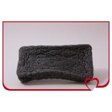 Esponja de konjac 100% natural mais quente, esponja de limpeza facial negra de bambu
