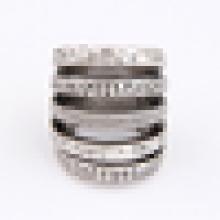 Diseño simple anillo de aleación de acero inoxidable para hombres y mujeres