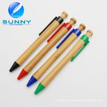 Топ продаж Эко дружественных бамбука шариковая ручка для рекламных