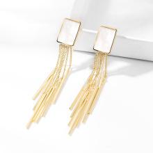 DARA Gold Plated  925 Silver  Pearl Tassel Earrings Women