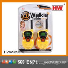 2015 buena calidad niños plástico walkie talkie