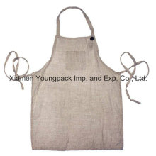 100% Undyed Natural Lino cocina de tamaño adulto cocina delantal