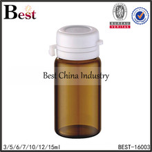 3ml 5ml 10ml 15ml alibaba china hot products amber glass bottle tear off cap essential oil bottle glass cosmetic packaging